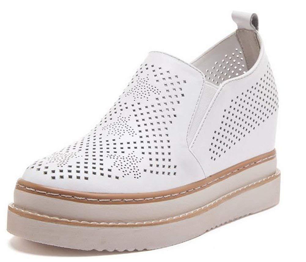 Fuxitoggo Flache Perforiert Leder Leder Leder Schuhe,Weiße,37 (Farbe   Wie Gezeigt Größe   Einheitsgröße) eb30ee