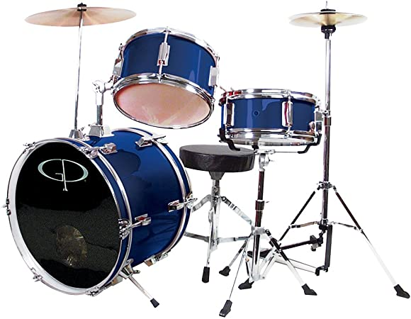 GP Percussion GP50BL Complete Junior Drum Set (Blue, 3-Piece Set): Musical Instruments - Amazon.com