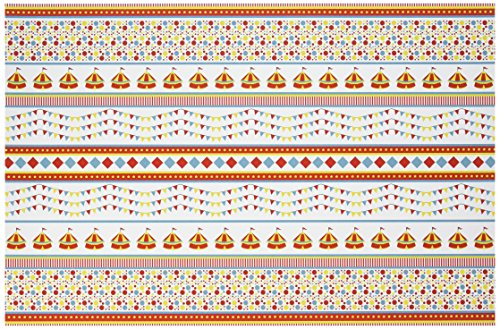 Outside the Box Papers Circus Themed Paper Placemats 11x17 8 Pack Red, Blue, Yellow - Circus Placemat