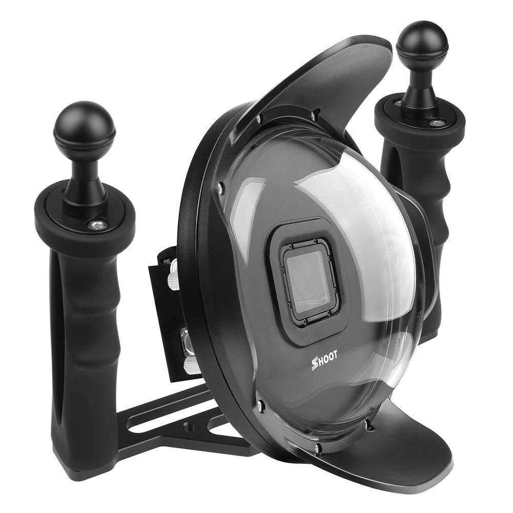 Vanpower 6インチ ダイビング防水ケース レンズフードドーム GoPro Hero 5/6/7用 ブラック   B07QS98P9G