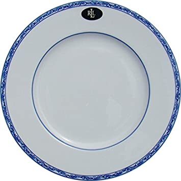Lauren by Ralph Lauren Mandarin Dinner Plate  sc 1 st  Amazon.com : blue dinner plate - pezcame.com