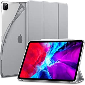 ESR for iPad Pro 12.9 Case 2020 & 2018, Rebound Slim Smart Case with Auto Sleep/Wake [Viewing/Typing Stand Mode] [Flexible TPU Back with Rubberized Cover] - Gray