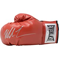 $167 » Mike Tyson Signed Red Everlast Left Hand Boxing Glove Silver JSA