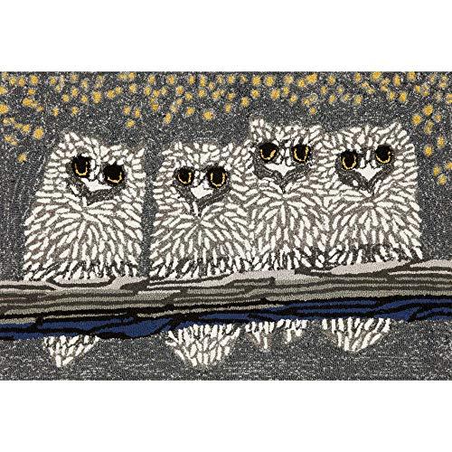 Liora Manne Frontporch Front Porch Halloween Owls Night Indoor/Outdoor Rug, 20