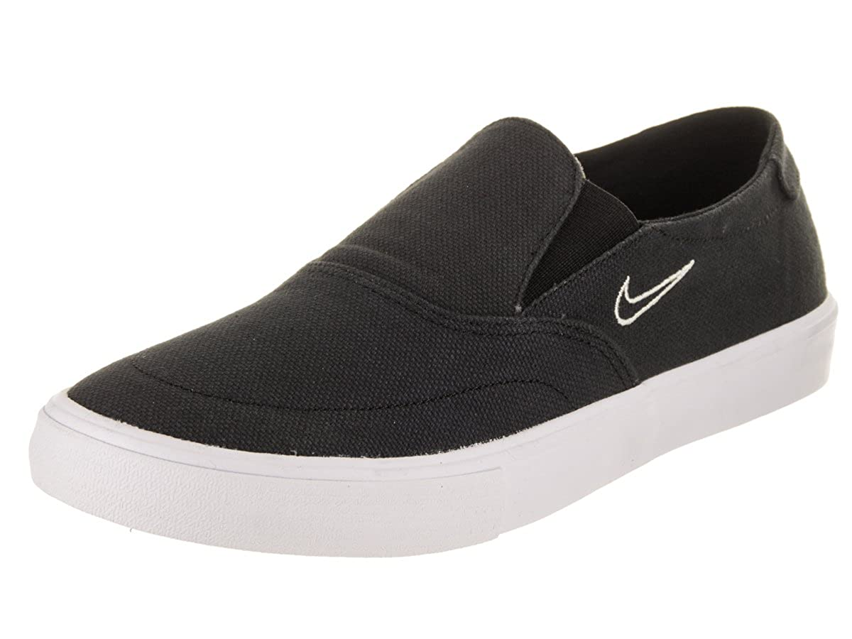 official photos 7610f 64b09 Amazon.com   Nike Men s SB Portmore II Solarsoft Slip On Skateboarding  Shoe, Black Black-Light Bone, 11   Skateboarding