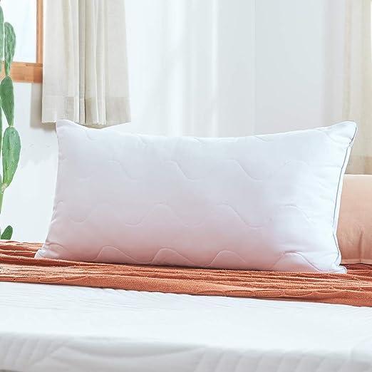 Sweetnight Pillow for Allergy Sufferers, Pillow for Children, Prevents Neck Pain, Polyester Fibre Cushion Filling, with Zip, White, 40 x 80 cm: Amazon.de: Küche & Haushalt