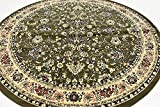 Unique Loom Kashan Collection Green 8 ft Round Area