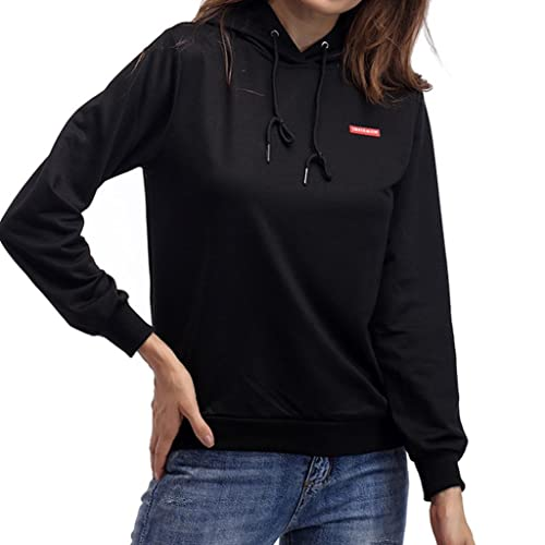 Las mujeres de moda de manga larga blusa tops, Yannerr otoño y el invierno suelta sudadera con capuc...