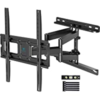 $35 » PERLESMITH TV Wall Mount Full Motion for Most 32-55 Inch Flat/Curved TVs with Swivels, Tilts &…