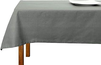 Wosde Tessuti Di Toscana Tovaglia Tessuto Cotone Made In Italy Shabby Chic Per Tavolo Rettangolare Cucina Tortora 140x240 Amazon It Casa E Cucina
