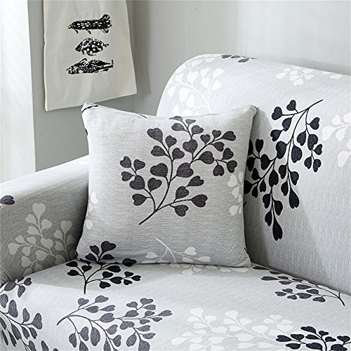 HOTNIU Modern Zippered Throw Pillow Covers Home Decorative Pattern Pillowcases Square Cushion Cover for Couch, Sofa, or Bed 18X18 Inch (Printed #3)