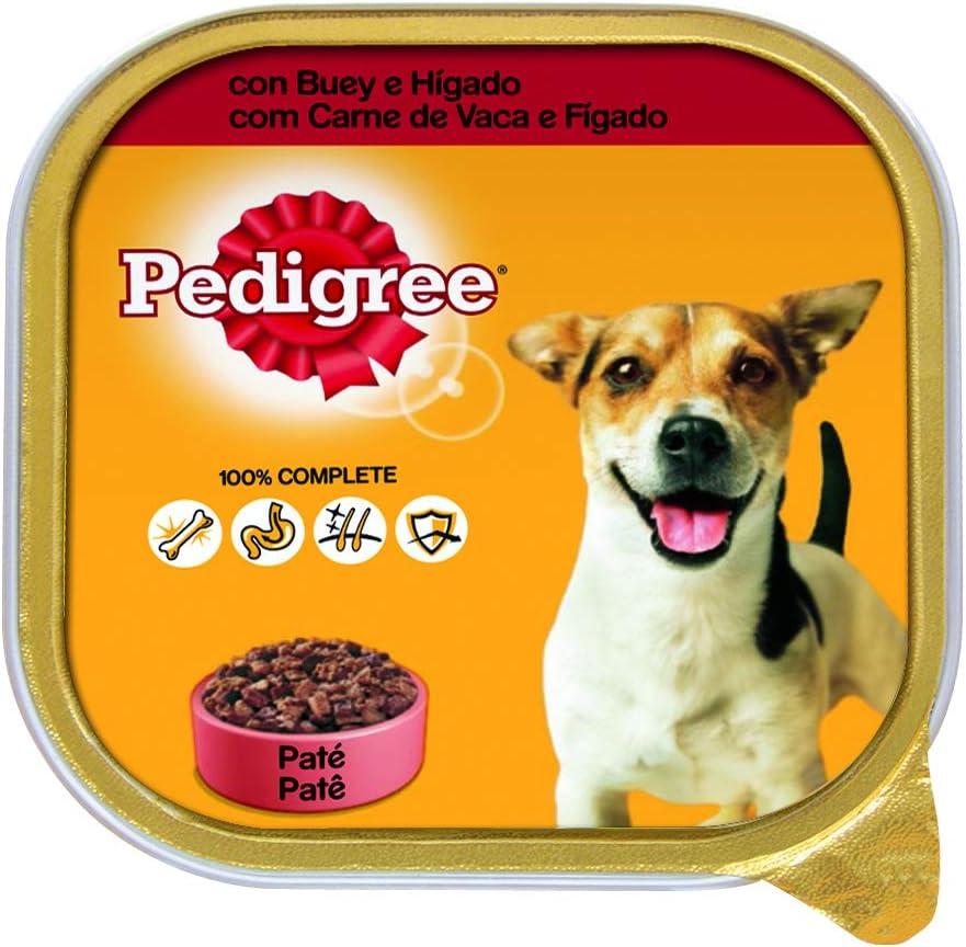 Pedigree Tarrina de Comida Húmeda para Perros Adultos, Sabor Buey e Hígado (Pack de 20 x 300g)