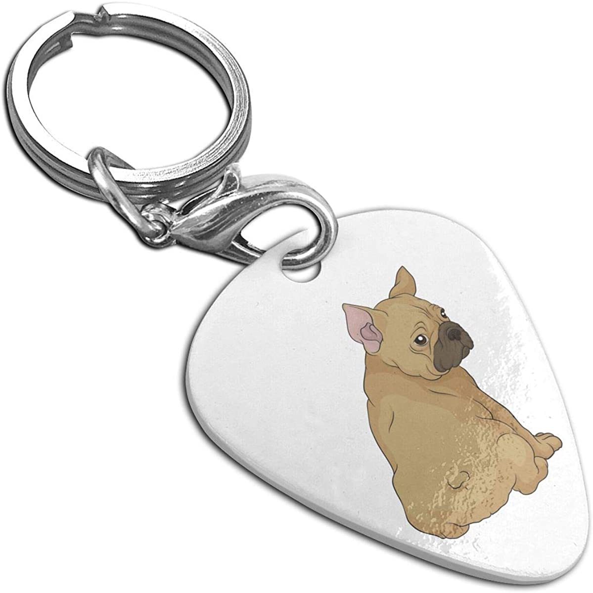 Cute Boston Terrier Butt Custom Guitar Pick Pendant Necklace Keychain
