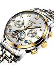 LIGE Watch Mens Hollow Automatic Mechanical Waterproof Sport Luxury Brand Wristwatch Business Steel Tourbillon...