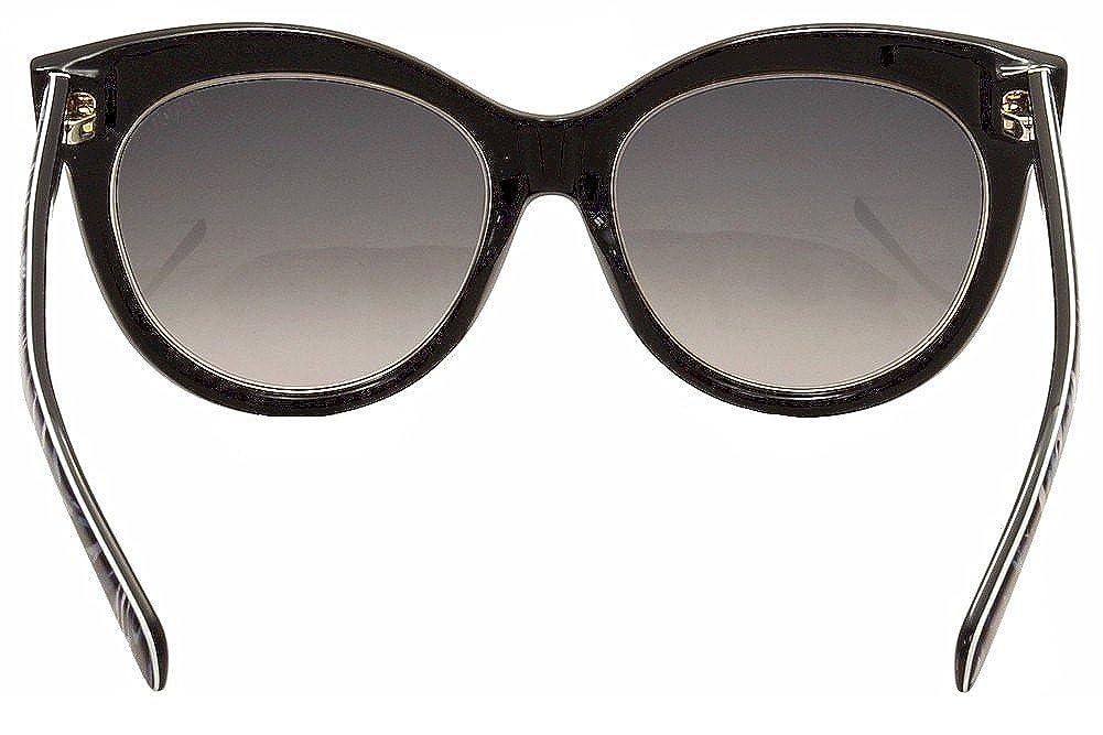 Emilio Pucci Womens EP0024 0024 05B Black//Gold//Multi Cat Eye Sunglasses 55mm