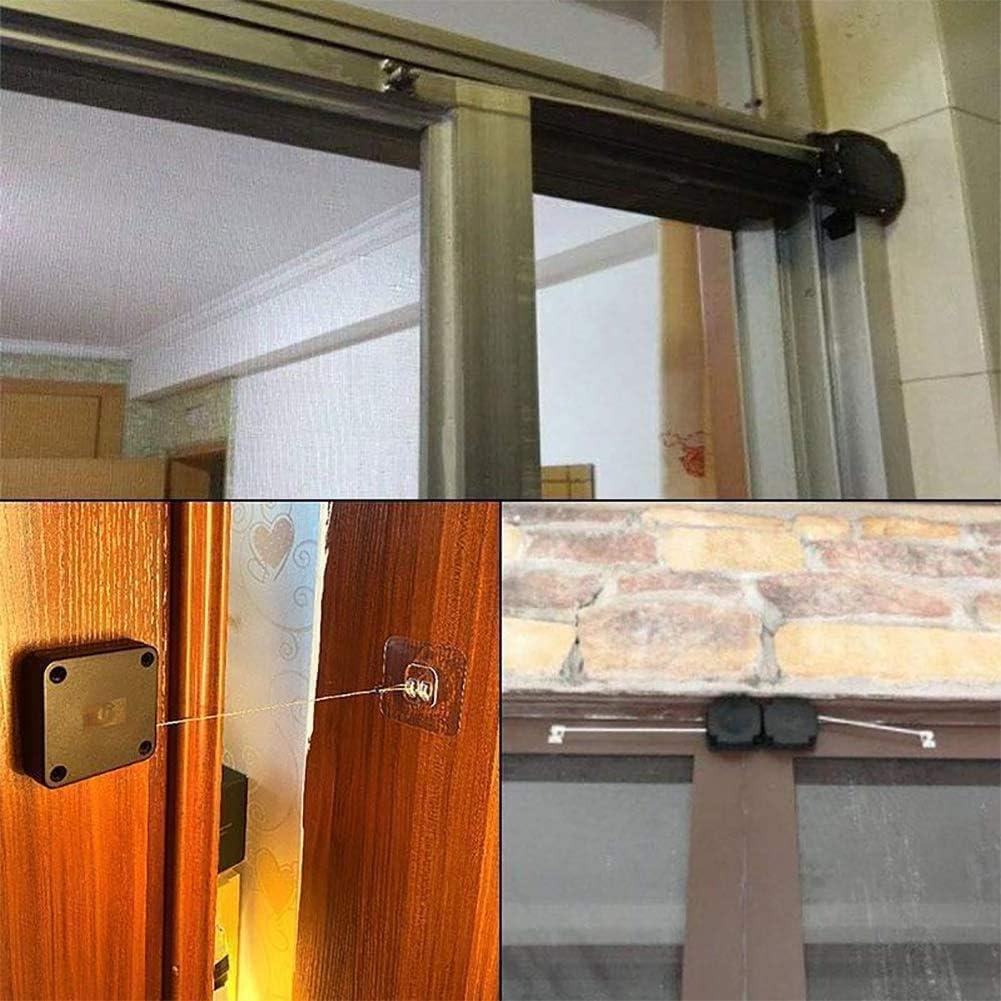 Auto Door-Closer Easy to Install Punch-Free Automatic Sensor Door Closer Automatically Close for All Doors
