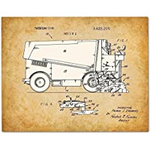 Zamboni - 11x14 Unframed Patent Print - Great Gift for Skaters and Hockey Players