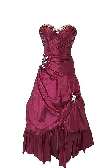 Tiffanys Melissa Burgundy Taffeta Strapless Prom Gown UK 4 (US 0)