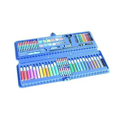 Caja Colores Niños El kit de 92 piezas de caja de crayones ...