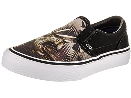 ea8f8362b9 Vans Youth Classic Slip-On (Triceratops) Black True White VN0A32QIM5E Kids  Size
