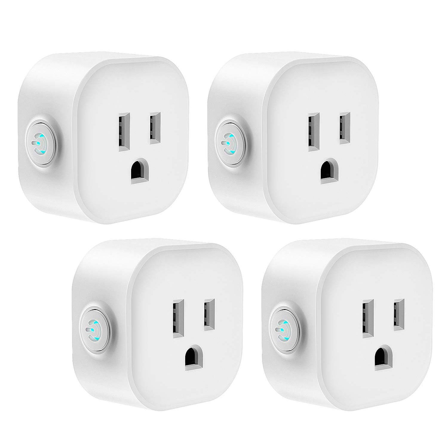 Smart Plug, Wifi Smart Outlet Switch Works with Alexa & Google Assistant, Remote Control Your Devices Anywhere, Voice Control with Echo & Google Home, IFTTT, No Hub Required, 4-Pack