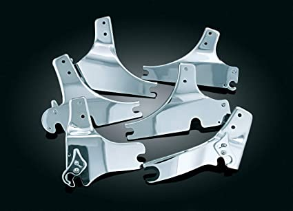 Kuryakyn 1634 Motorcycle Accessory 1 Pair Chrome Transformer Backrest Quick Release Side Plates for 2009-13 Harley-Davidson Motorcycles