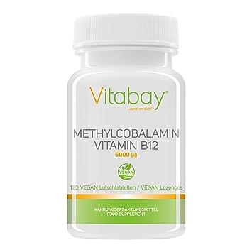 Metilcobalamina, vitamina B12 (5000 mcg): Amazon.es: Salud y cuidado personal
