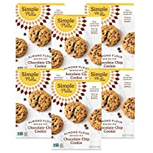 Simple Mills Almond Flour Baking Mix, Gluten Free Chocolate Chip Cookie Dough Mix, Made with whole foods, 6 Count (Packaging May Vary)