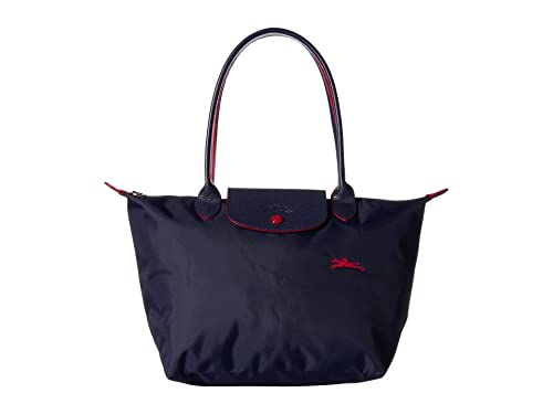 Longchamp 'Medium 'Le Pliage Club' Nylon Tote Shoulder Bag, Navy