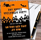 Scary Haunted Houses Personalized Halloween Party Invitations