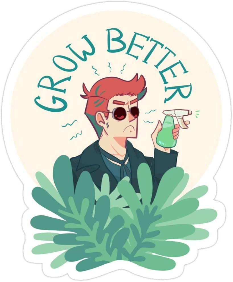 BreathNenStore Grow Better! Good Omens Stickers (3 Pcs/Pack) 8490642624333