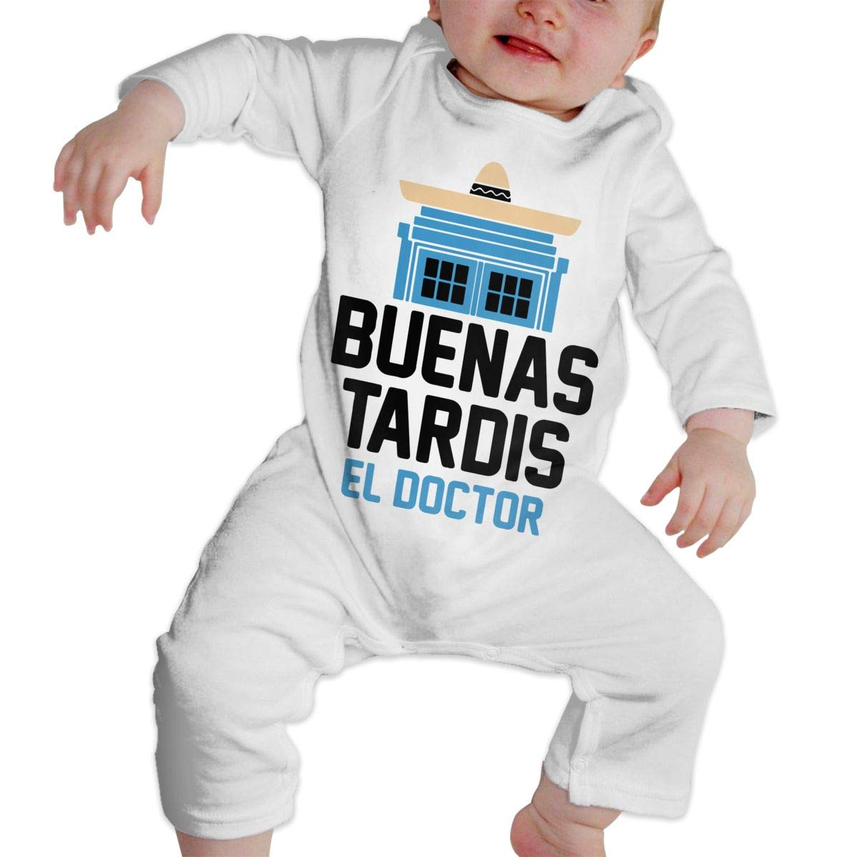 A1BY-5US Infant Babys Cotton Long Sleeve Buenas Tardis Baby Clothes One-Piece Romper Clothes