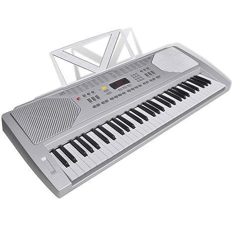 Teclado Electrónico con Atril para Partituras - 61 Teclas de Piano