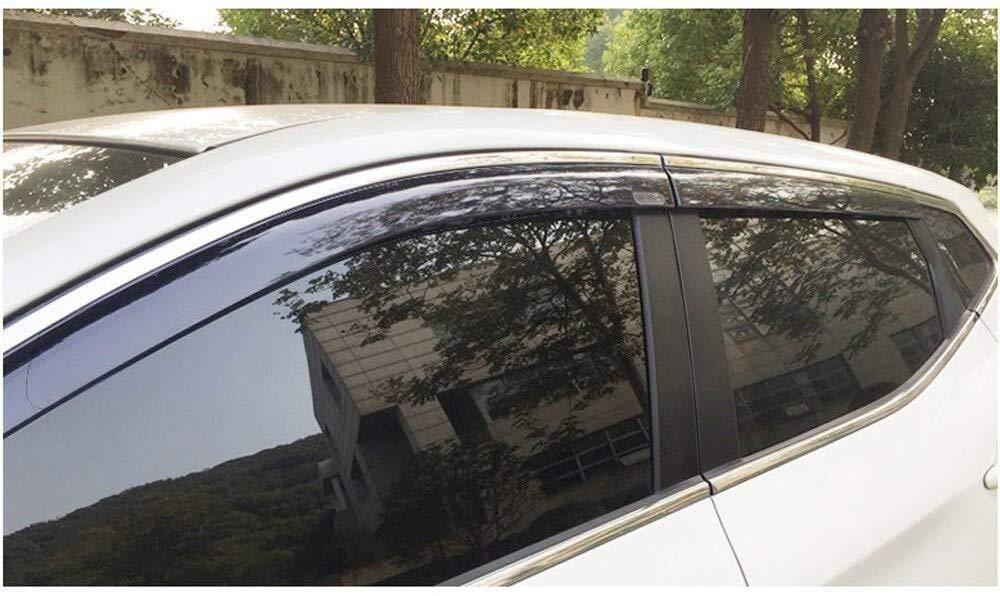 lado de la puerta deflectores de viento del viento visera lluvia Escudos Guardia cubiertas de salida se ajusta el protector externo Deflectores de viento coche Compatible con Nissan Qashqai 2016-2019