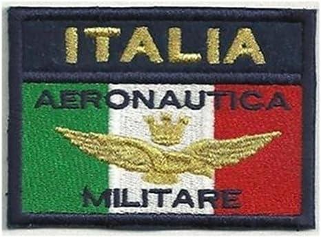 Parche bordado con la bandera Italia Aeronáutica Militar – Parche termoadhesivo: Amazon.es: Hogar