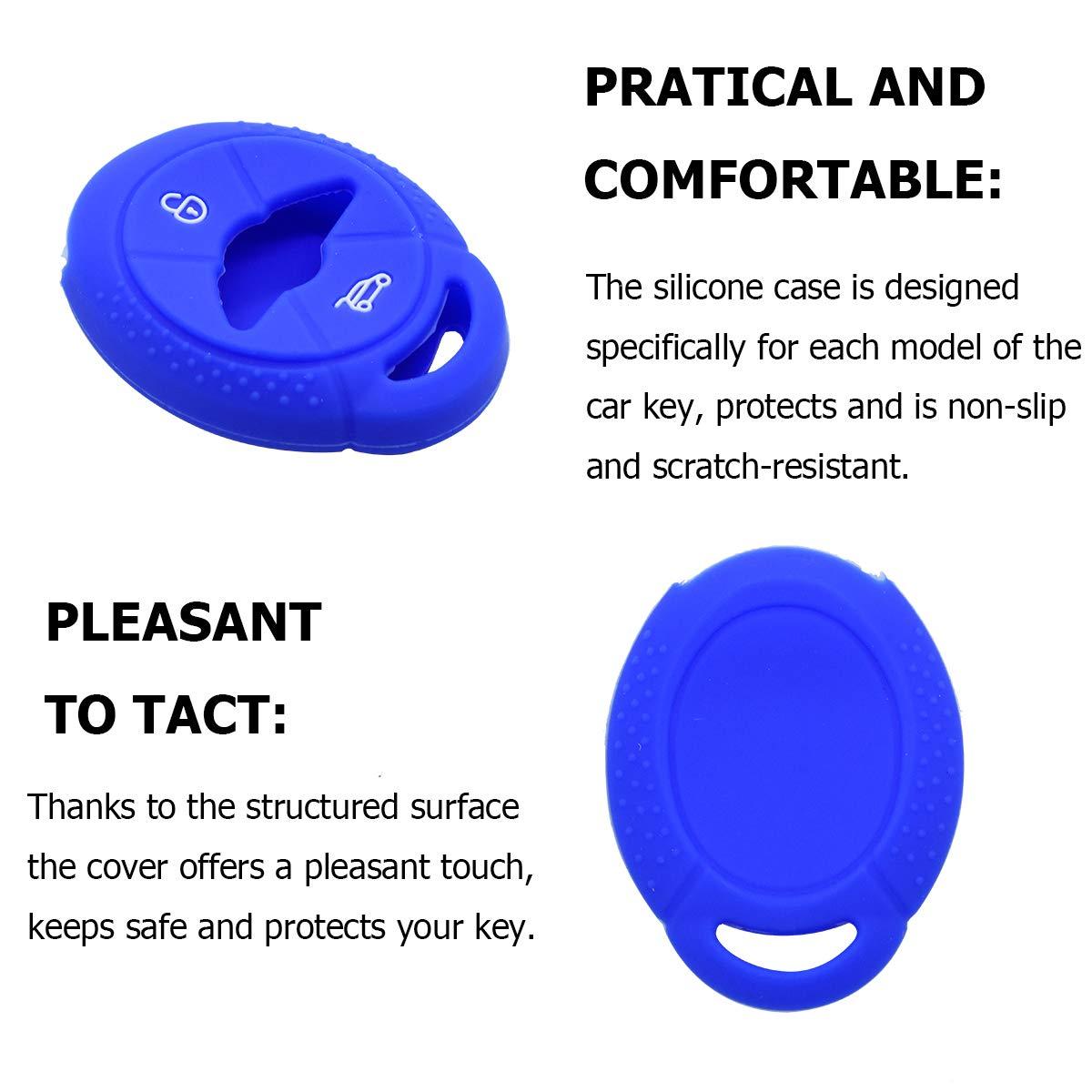 Llaves del coche de silicona funda protectora azul para mini cooper cabrio Clubman