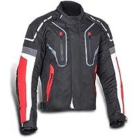 JET Chaqueta Moto Hombre Textil Impermeable con Protecciones