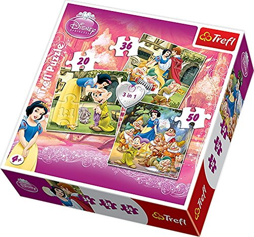 Trefl 3-in-1 Disney Snow White Puzzle (106 Pieces)