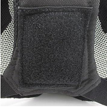 V6 Valla de malla de acero de alta calidad de Cosplay Máscara Full Cover Face Protectora Táctica Militar Máscara de paintball: Amazon.es: Deportes y aire ...