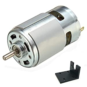 Qianson DC 775 Motor 12V-36V 24V 3500-9000RPM 775 Motor Ball Bearing Large Torque High Power Low Noise DC Motor for Electrical Tools