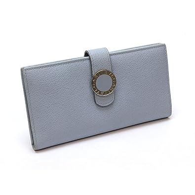 ee1bd863a038 Amazon | [ブルガリ] BVLGARI コローレ 二つ折り長財布 レザー ブルー系 ...