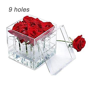Caja de Regalo de Flores de Caja de Flor de acrílico ...