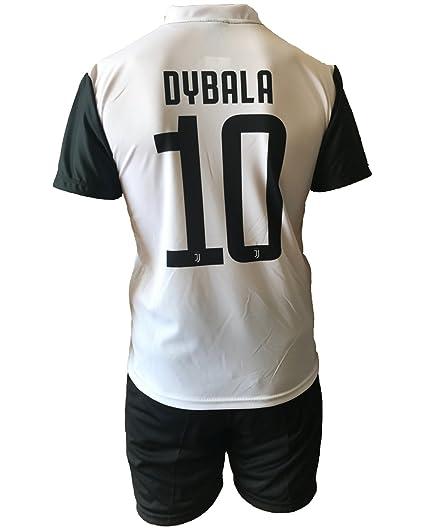 Conjunto Equipacion Camiseta Pantalones Futbol Juventus Paulo Dybala 10 Replica Autorizado 2017-2018 Niños Adultos