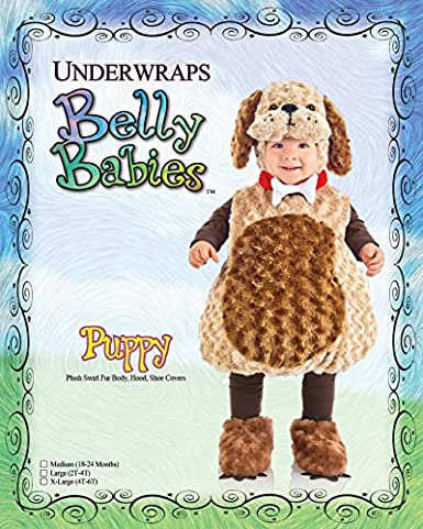 Underwraps Toddler Belly Babies Furry Puppy Costume