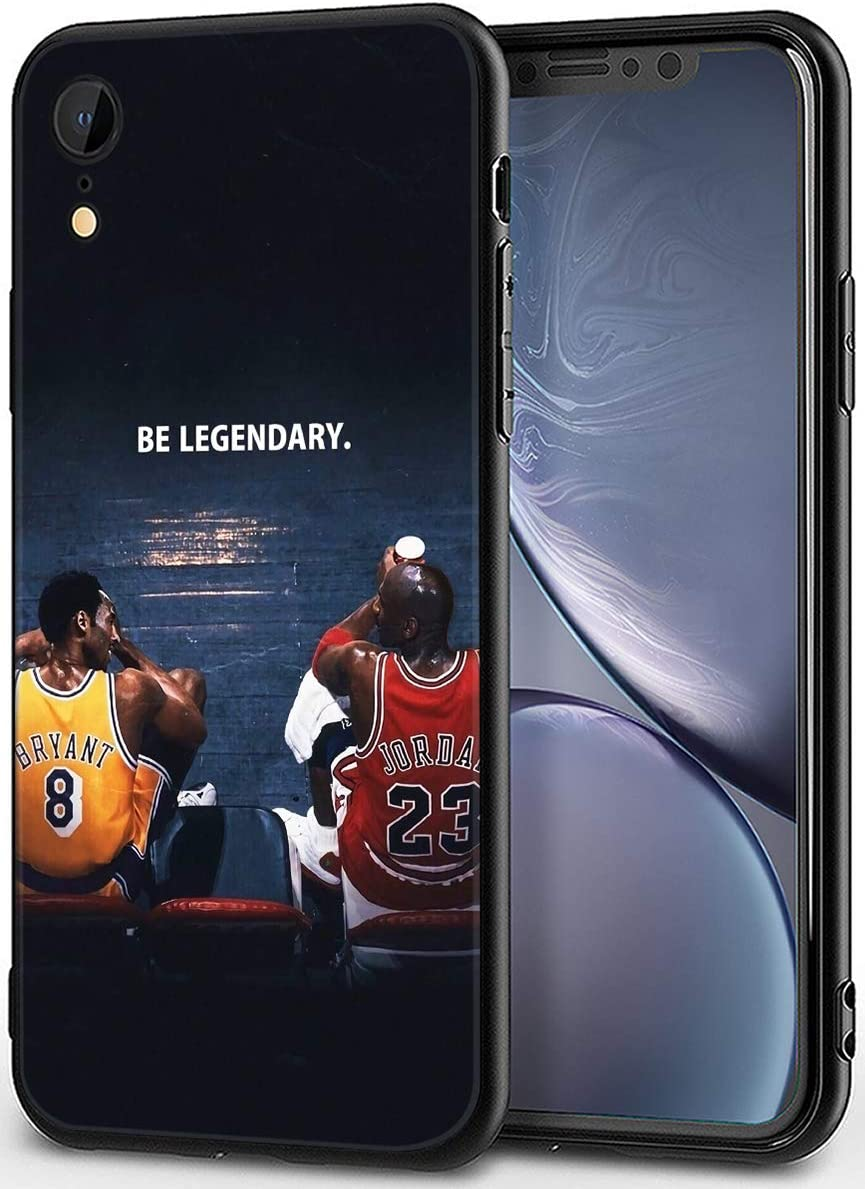 "iPhone XR Case,Basketball Theme Design Ultrathin Cover Cases for iPhone Xr 6.1"" (Kobe-Michael-Legendary)"