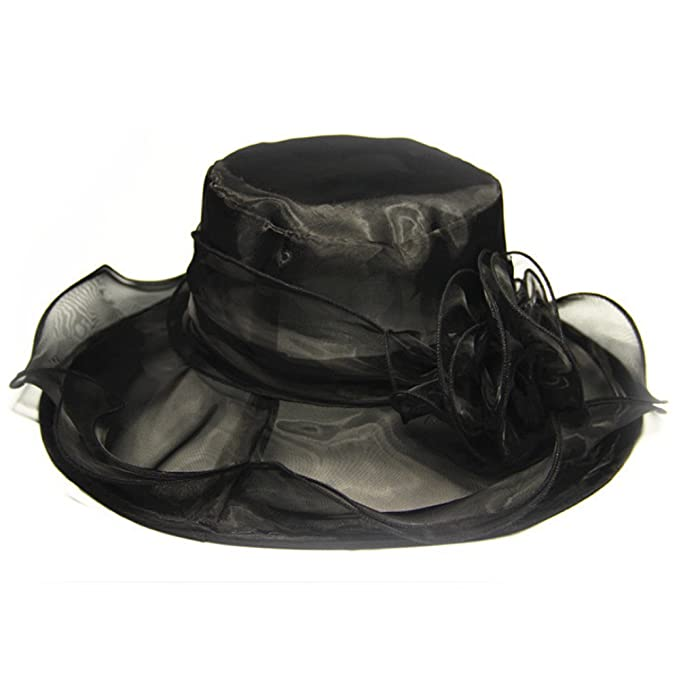Fletion sombreros mujer fiesta Retro clásico sombreros fiesta para bodas  flores sombreros para el sol mujer Ssowun Regalos de vacaciones 8dfa804d4d3