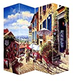 Ore International FW1502D French Countryside Canvas Room Divider, 71''