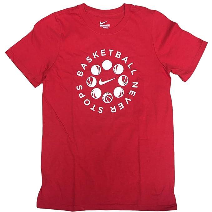 Amazon Com Nike Boy S Graphic Shirt Basketball Never Stops Small