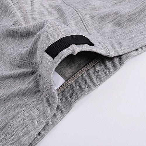 Cxsm Sin tamaño Xxl Head Ropa Boxer Hombres Para Shorts De Cuadrados Grey 2 paquete Silicona Calzoncillos Interior Pantalones Transpirables Cortos r1UxrC