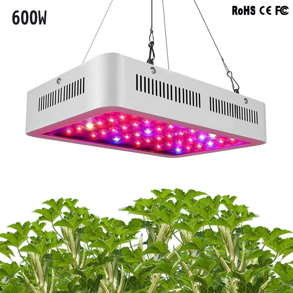ZTJ-Light LED Lámpara de Crecimiento,Reflector 600W Lámpara de Planta UV IR Full Spectrum con Veg & Bloom Channel para Jardín de Interior Greenhouse Hydroponics Herb Flower Growing,doublecore